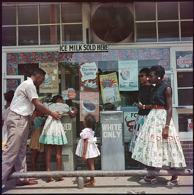 "Gordon Parks photograph: ""At Segregated Drinking Fountain, Mobile, Alabama, 1956"""