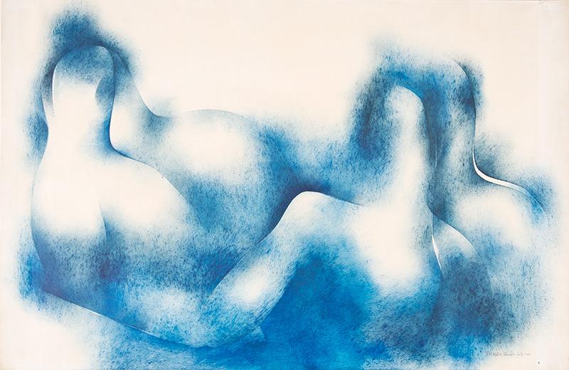 "Norman Lewis artwork: ""Untitled (Blue Waves)"""