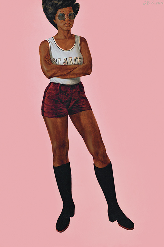 "Barkley Hendricks artwork: ""Bid 'Em In/Slave (Angie)"""
