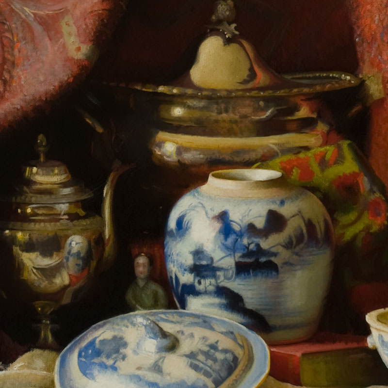 Detail of At Auction by Elizabeth Vaughan Okie Paxton